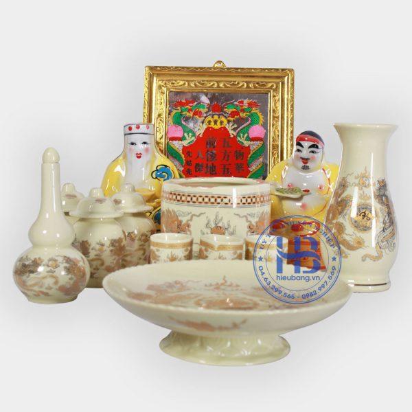 Bộ Đồ Thờ Thần Tài Vàng Bé Đẹp Giá Rẻ ở Hà Nội | Cửa hàng Hiếu Bằng