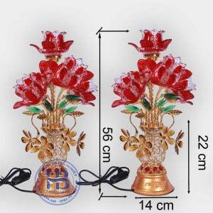Bình Hoa Bằng Điện 5 Bông 56cm Đỏ Đẹp Giá Rẻ Ở Hà Nội | Cửa hàng Hiếu Bằng