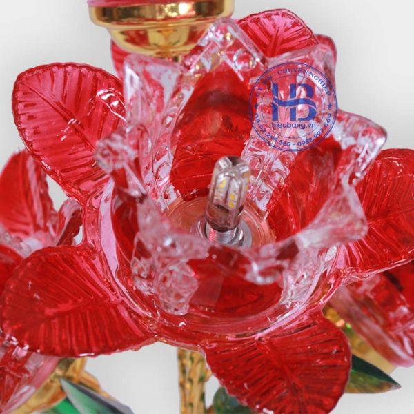 Bình Hoa Sen 5 Bông 56cm Đỏ Đẹp Giá Rẻ Ở Hà Nội | Cửa hàng Hiếu Bằng