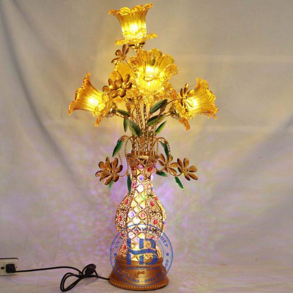 Bình Hoa Sen 5 Bông 85cm Màu Vàng Đẹp Giá Rẻ ở Hà Nội | Cửa hàng Hiếu Bằng