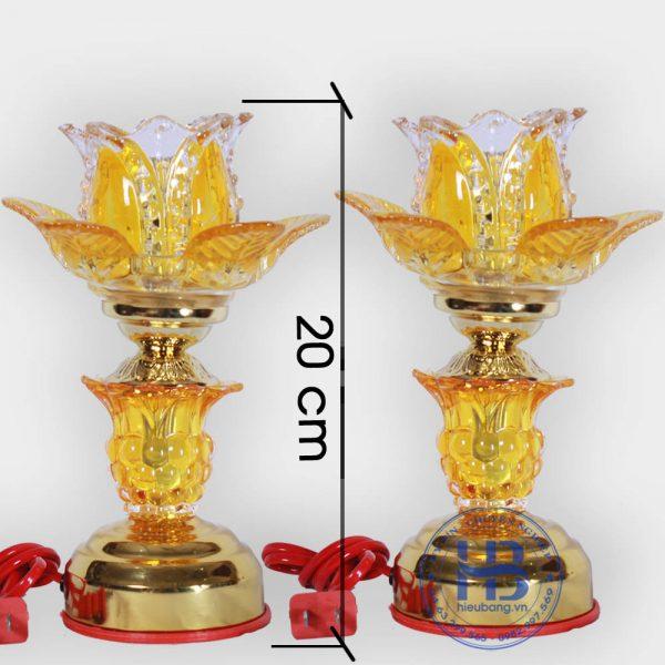 Đèn Thờ Điện Led Pha Lê 1 Bông Vàng 20cm Đẹp Giá Rẻ ở Hà Nội | Cửa hàng Hiếu Bằng