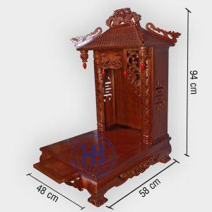 Bàn Thờ Thần Tài 4 Mái 48cm Đẹp Giá Rẻ ở Hà Nội | Cửa hàng Hiếu Bằng