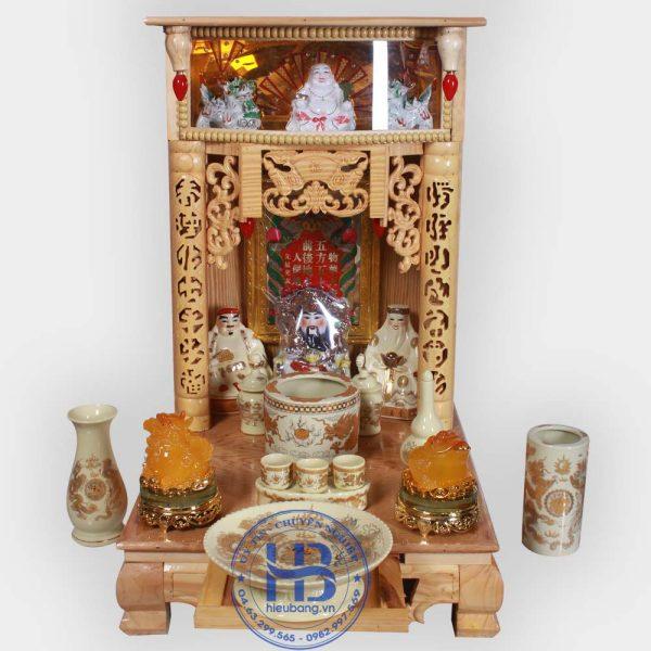 Bộ Bàn Thờ Thần Tài Điện Tử 41cm & Bộ Phụ Kiện Vàng Đẹp Giá Rẻ ở Hà Nội | Cửa hàng Hiếu Bằng
