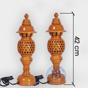 Đèn Thờ Gỗ Tổ Ong Màu Mít 42cm Đẹp Giá Rẻ ở Hà Nội | Cửa hàng Hiếu Bằng