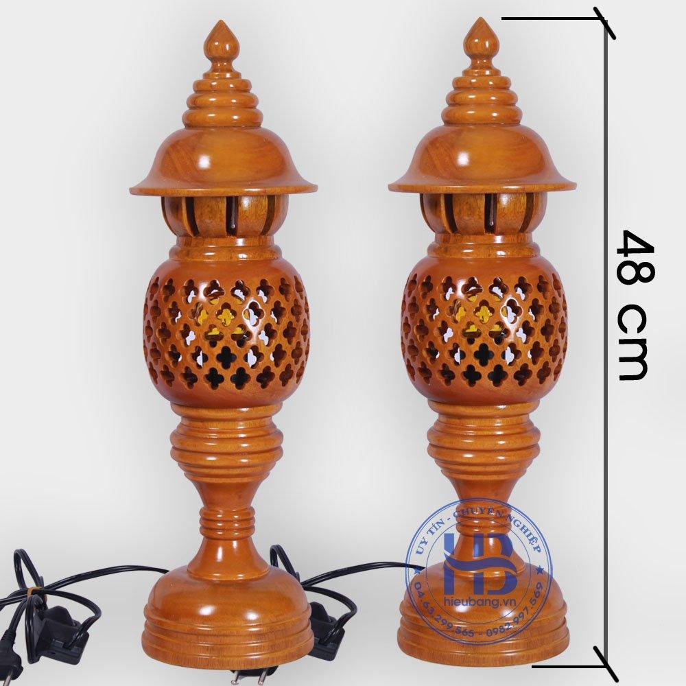 Đèn Thờ Gỗ Tổ Ong Màu Mít 48cm Đẹp Giá Rẻ ở Hà Nội | Cửa hàng Hiếu Bằng
