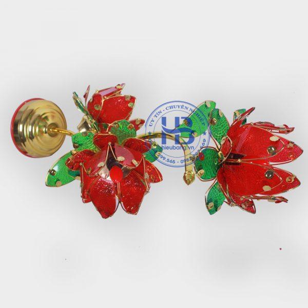 Đèn Hoa Sen 3 Bông Đỏ 55cm Đẹp Giá Rẻ ở Hà Nội | Cửa hàng Hiếu Bằng