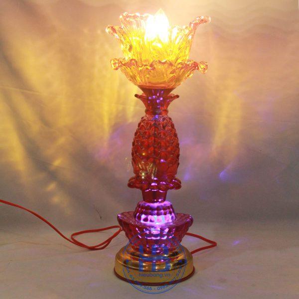 Đèn Thờ Led 1 Bông Thủy Tinh 42cm Đẹp Giá Rẻ ở Hà Nội | Cửa hàng Hiếu Bằng