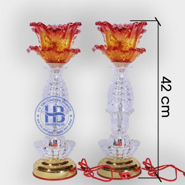 Đèn Thờ Led 1 Bông Thủy Tinh Trắng 42cm Đẹp Giá Rẻ ở Hà Nội | Cửa hàng Hiếu Bằng