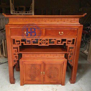 Bàn Thờ Chung Cư Màu Gụ 127cm Đẹp Giá Rẻ ở Hà Nội | Cửa hàng Hiếu Bằng