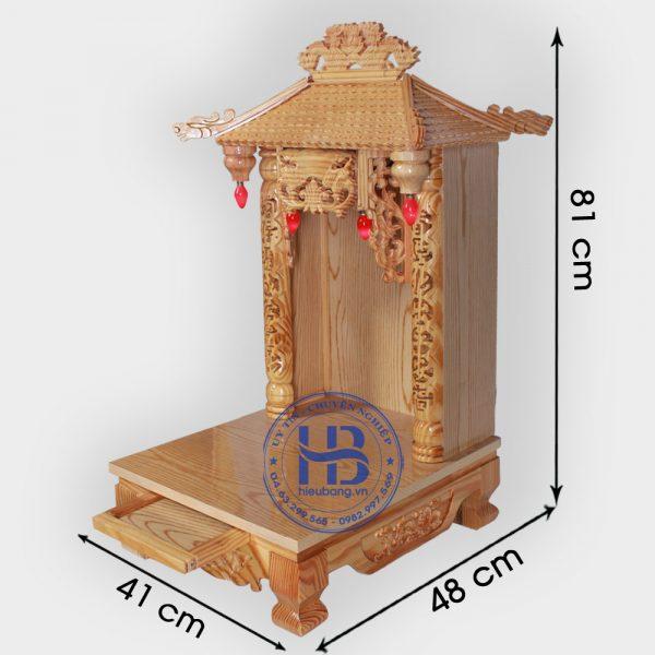 Bàn Thờ Thần Tài 4 Mái Gỗ Pơmu Đẹp Giá Rẻ ở Hà Nội | Cửa hàng Hiếu Bằng