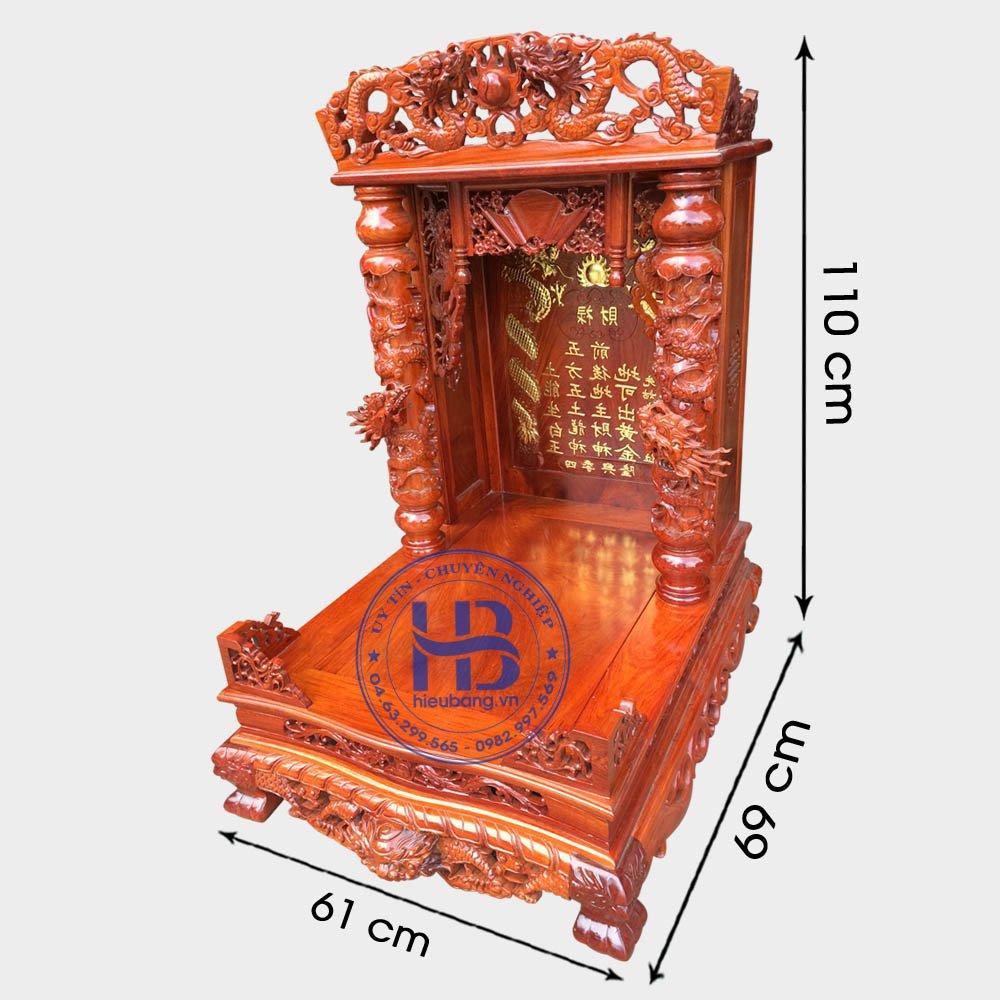Bàn Thờ Thần Tài Gỗ Hương Cao Cấp 61cm Đẹp Giá Rẻ ở Hà Nội | Cửa hàng Hiếu Bằng