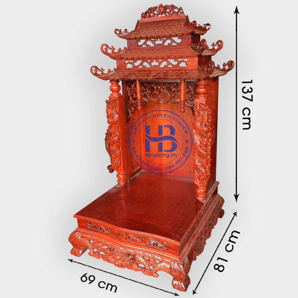 Mẫu Bàn Thờ Ông Địa Đẹp Gỗ Gụ 69cm Giá Rẻ ở Hà Nội | Cửa hàng Hiếu Bằng