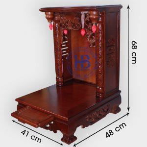 Bàn Thờ Thần Tài Gỗ Xoan 41cm Đẹp Giá Rẻ ở Hà Nội | Cửa hàng Hiếu Bằng