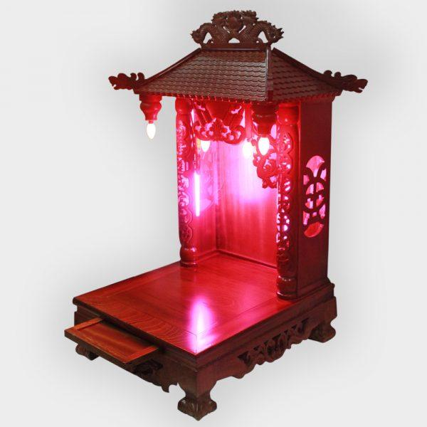 Bàn Thờ Thần Tài 4 Mái Gỗ Xoan 41cm Đẹp Giá Rẻ ở Hà Nội | Cửa hàng Hiếu Bằng