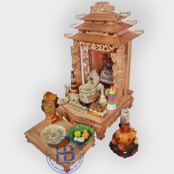 Bộ Bàn Thờ Thần Tài 69cm & Bộ Đồ Thờ Vàng Đẹp Giá Rẻ ở Hà Nội | Cửa hàng Hiếu Bằng