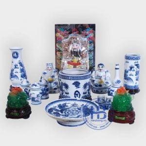Bộ Đồ Thờ Thần Tài Cỡ Đại Xanh Đẹp Giá Rẻ ở Hà Nội | Cửa hàng Hiếu Bằng