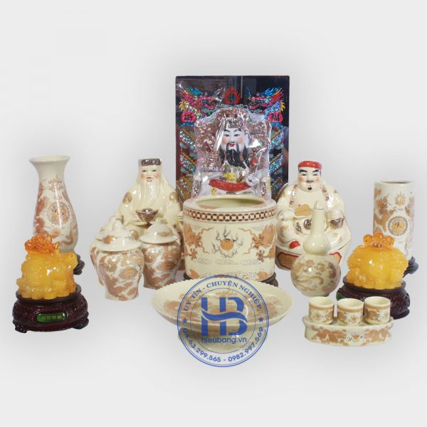 Bộ Đồ Thờ Thần Tài Cỡ Đại Vàng Đẹp Giá Rẻ ở Hà Nội | Cửa hàng Hiếu Bằng