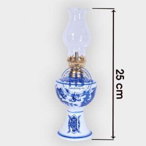 Đèn Dầu Bát Tràng Xanh 25cm Đẹp Giá Rẻ ở Hà Nội | Cửa hàng Hiếu Bằng