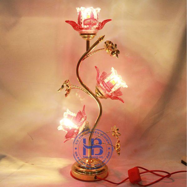Đèn Thờ Điện Led Pha Lê 3 Bông 55cm Đỏ Đẹp Giá Rẻ ở Hà Nội | Cửa hàng Hiếu Bằng
