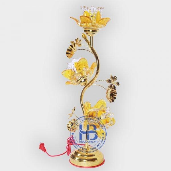 Đèn Thờ Điện Led Pha Lê 3 Bông 50cm Vàng Đẹp Giá Rẻ ở Hà Nội | Cửa hàng Hiếu Bằng