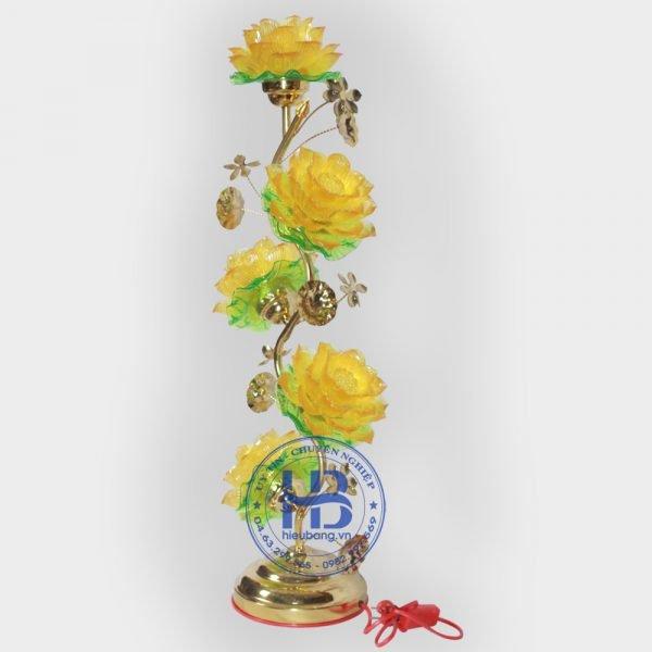 Đèn Thờ Led Hoa Sen 5 Bông 75cm Vàng Đẹp Giá Rẻ ở Hà Nội | Cửa hàng Hiếu Bằng