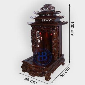 Bàn Thờ Thần Tài Gỗ Phay 48cm Đẹp Giá Rẻ ở Hà Nội | Cửa hàng Hiếu Bằng