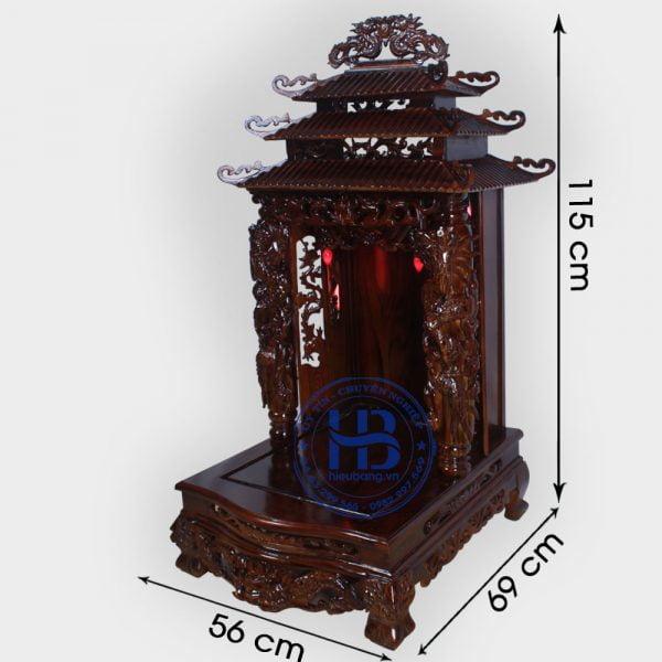 Bàn Thờ Thần Tài Gỗ Phay 56cm Đẹp Giá Rẻ ở Hà Nội | Cửa hàng Hiếu Bằng