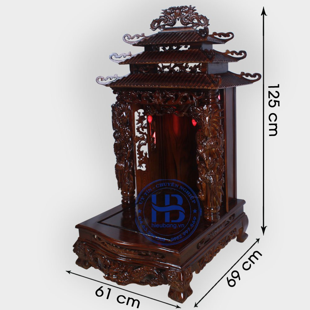 Bàn Thờ Thần Tài Gỗ Phay 61cm Đẹp Giá Rẻ ở Hà Nội | Cửa hàng Hiếu Bằng