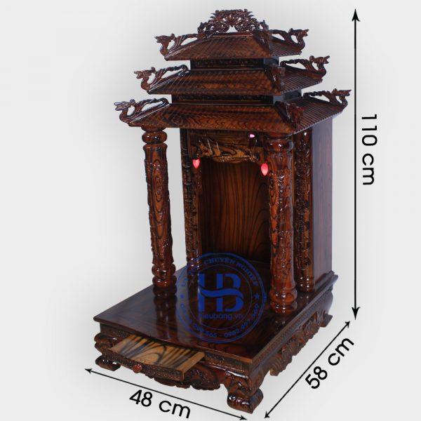 Bàn Thờ Thần Tài Mái Chùa Gỗ Thông Mỹ 48cm Đẹp Giá Rẻ ở Hà Nội | Cửa hàng Hiếu Bằng