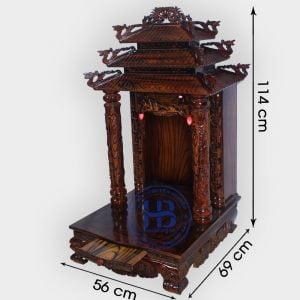 Bàn Thờ Thần Tài Mái Chùa Gỗ Thông Mỹ 56cm Đẹp Giá Rẻ ở Hà Nội | Cửa hàng Hiếu Bằng