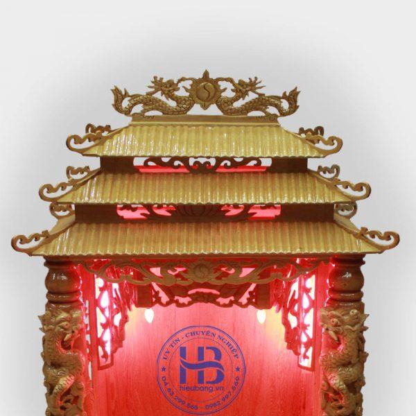 Bàn Thờ Thần Tài Cột Rồng Gỗ Pơmu Đẹp GIá Rẻ ở Hà Nội | Cửa hàng Hiếu Bằng