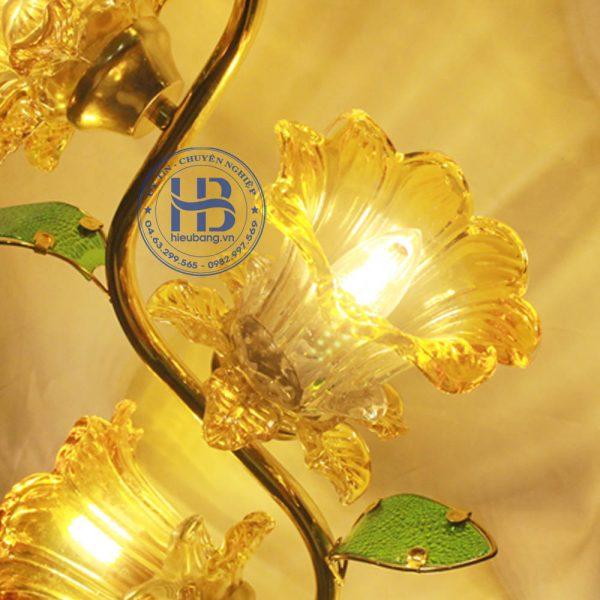 Đèn Thờ Led 7 Bông Thủy Tinh Vàng Đẹp Giá Rẻ ở Hà Nội | Cửa hàng Hiếu Bằng