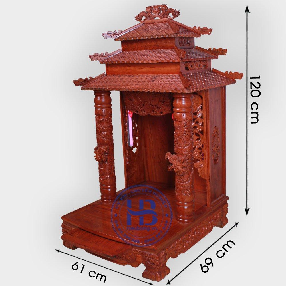 Bàn Thờ Ông Địa Gỗ Hương 61cm Đẹp Giá Tốt ở Hà Nội
