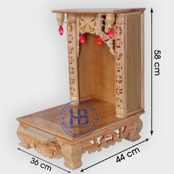 Bàn Thờ Thần Tài 36cm Gỗ Pơmu Đẹp Giá Rẻ ở Hà Nội