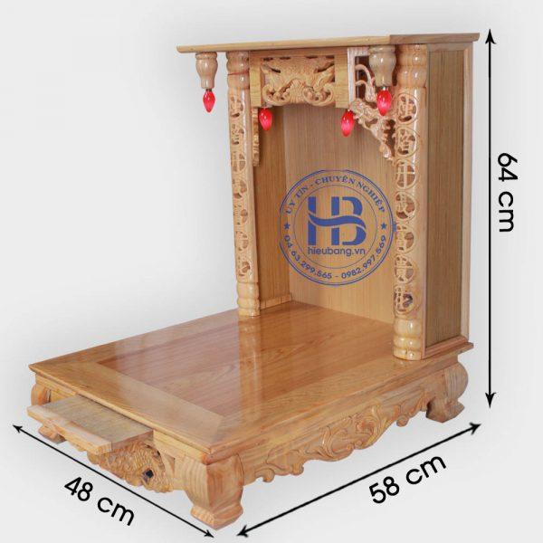 Bàn Thờ Thần Tài 48cm Gỗ Pơmu Đẹp Giá Rẻ ở Hà Nội