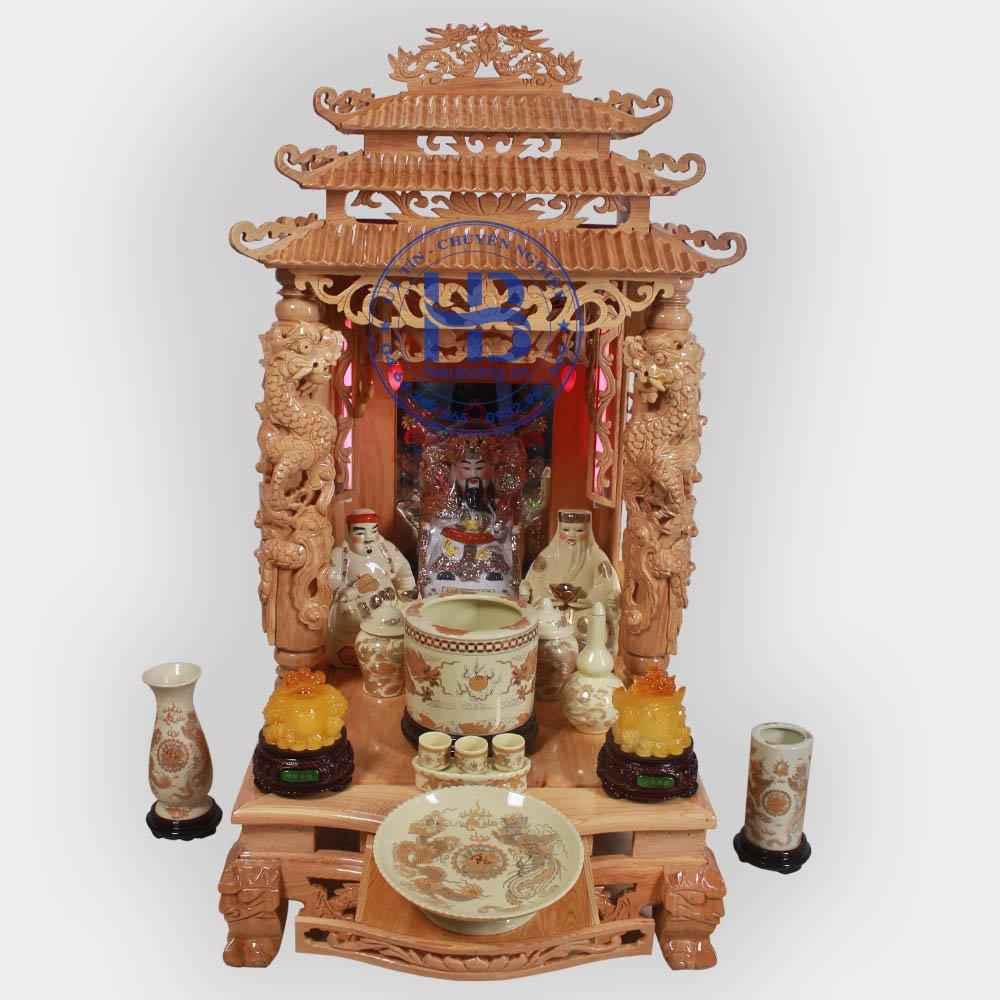 Bộ Bàn Thờ Thần Tài 81cm & Bộ Đồ Thờ Cơ Bản Vàng Cao Cấp Đẹp Giá Tốt Nhất ở Hà Nội