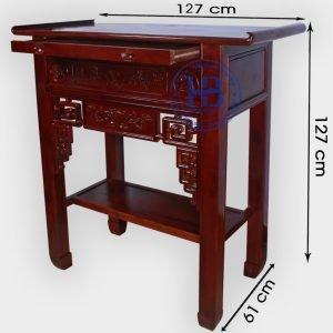 Bàn Thờ Bằng Gỗ Keo 127cm Đẹp Giá Rẻ ở Hà Nội | Cửa hàng Hiếu Bằng