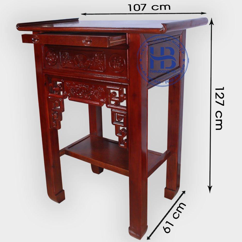 Bàn Thờ Gỗ Keo Triện Sen 107cm Đẹp Giá Rẻ ở Hà Nội | Cửa hàng Hiếu Bằng