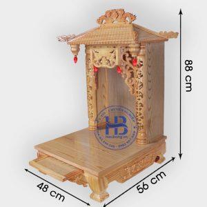Bàn Thờ Thần Tài 4 Mái Gỗ Pơmu 48cm Đẹp Giá Rẻ ở Hà Nội | Cửa hàng Hiếu Bằng