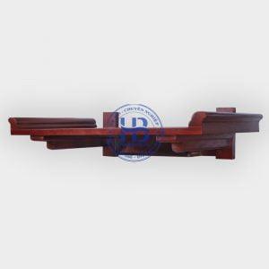 Bàn Thờ Treo Tường Gỗ Sồi Chân Liền Màu Gụ 89x48cm Đẹp Giá Rẻ ở Hà Nội