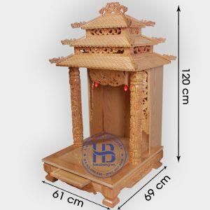 Bàn Thờ Thần Tài 12 Mái Gỗ Pơmu Đẹp Giá Rẻ ở Hà Nội | Cửa hàng Hiếu Bằng