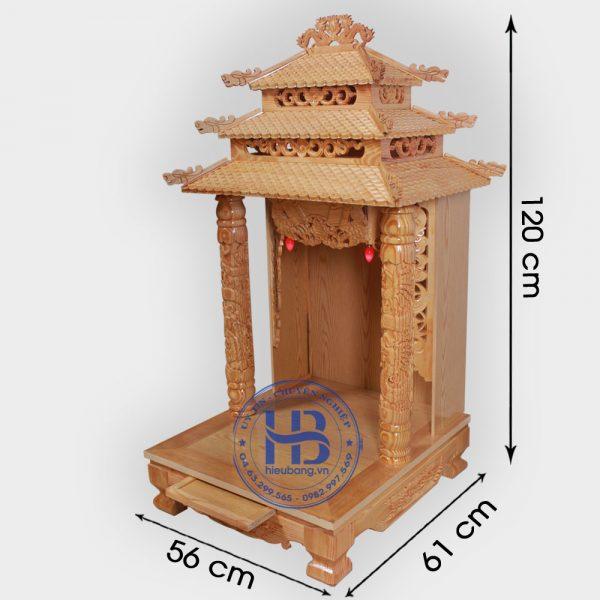 Bàn Thờ Thần Tài 12 Mái 56cm Gỗ Pơmu Đẹp Giá Rẻ ở Hà Nội | Cửa hàng Hiếu Bằng