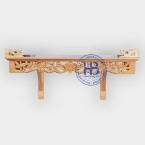 Bàn thờ treo tường đục Sen 107x61cm đẹp giá rẻ ở Hà Nội | Top 10 mẫu bàn thờ treo giá rẻ