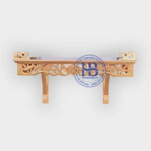 Bàn thờ treo tường đục Sen 81x48cm đẹp giá rẻ ở Hà Nội | Top 10 mẫu bàn thờ giá rẻ