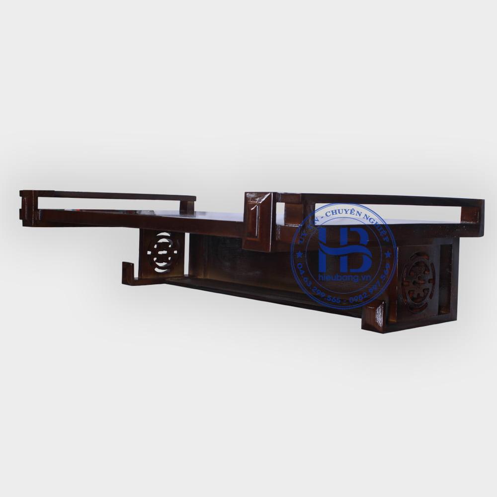 Bàn thờ treo tường gỗ Sồi màu óc chó 89x48cm đẹp giá rẻ ở Hà Nội | Top 10 bàn thờ treo đẹp