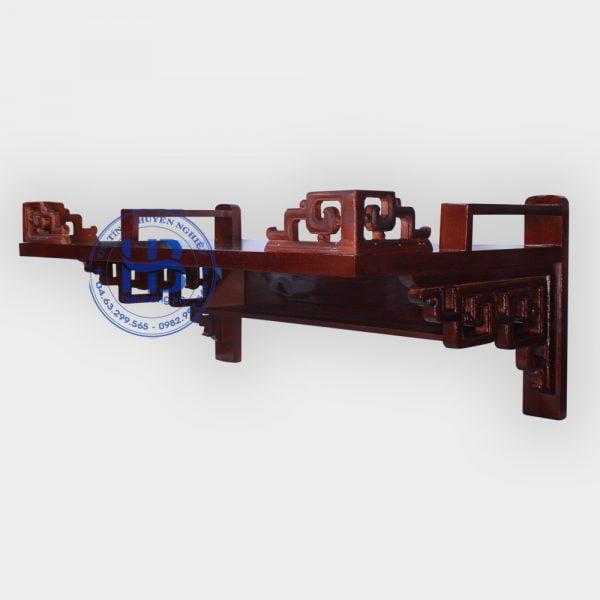 Bàn thờ treo tường hiện đại gỗ sồi màu gụ 81x48cm đẹp giá rẻ ở Hà Nội | Cửa hàng Hiếu Bằng