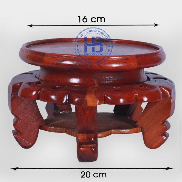 Đế kê kỷ váy gỗ Hương 16cm đẹp giá rẻ ở Hà Nội | Đế kê