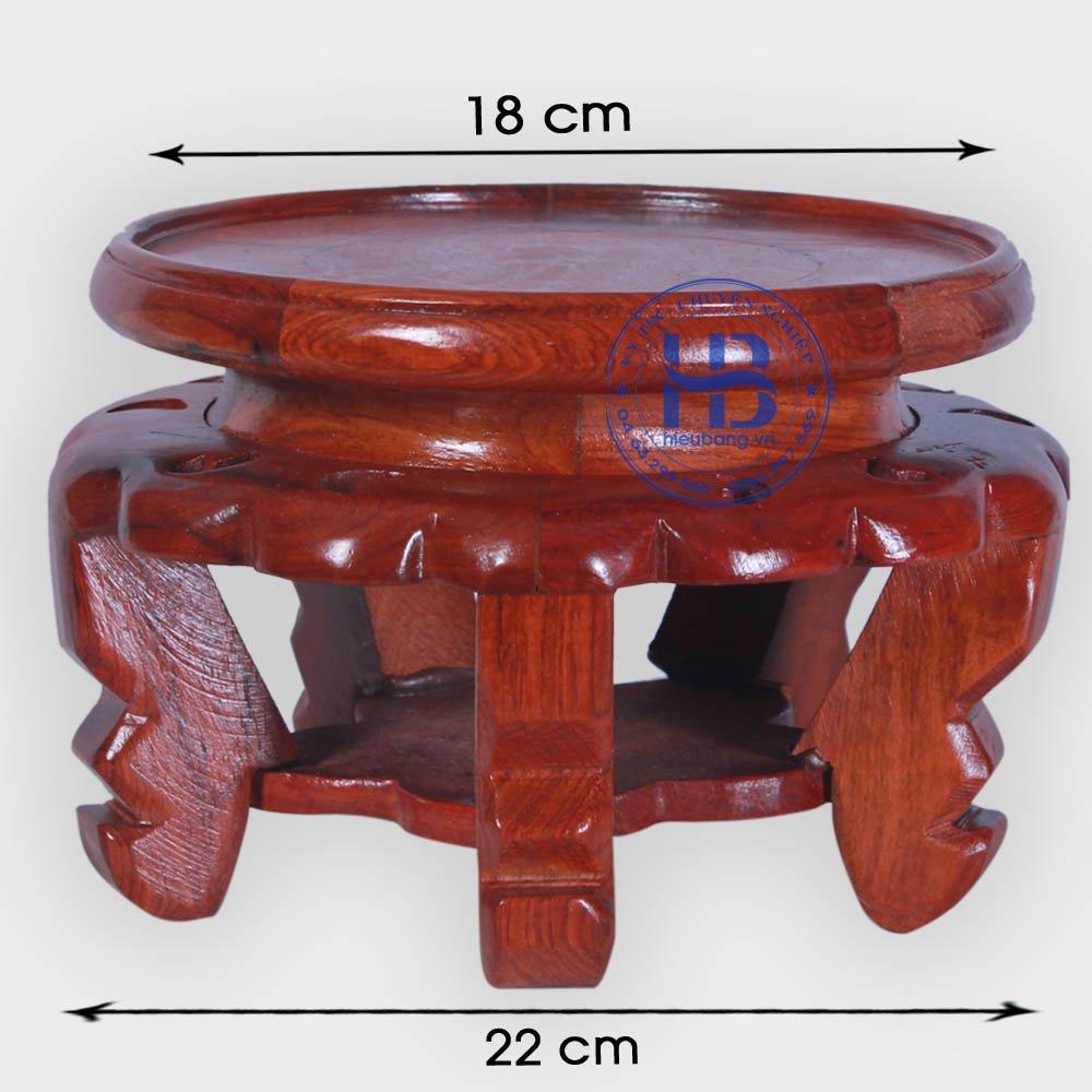 Đế kê kỷ váy gỗ Hương 16cm đẹp giá rẻ ở Hà Nội | Đế kê gỗ Hương
