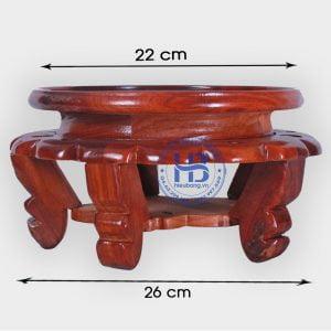 Đế kê kỷ váy gỗ Hương 22cm đẹp giá rẻ ở Hà Nội | Đế kê