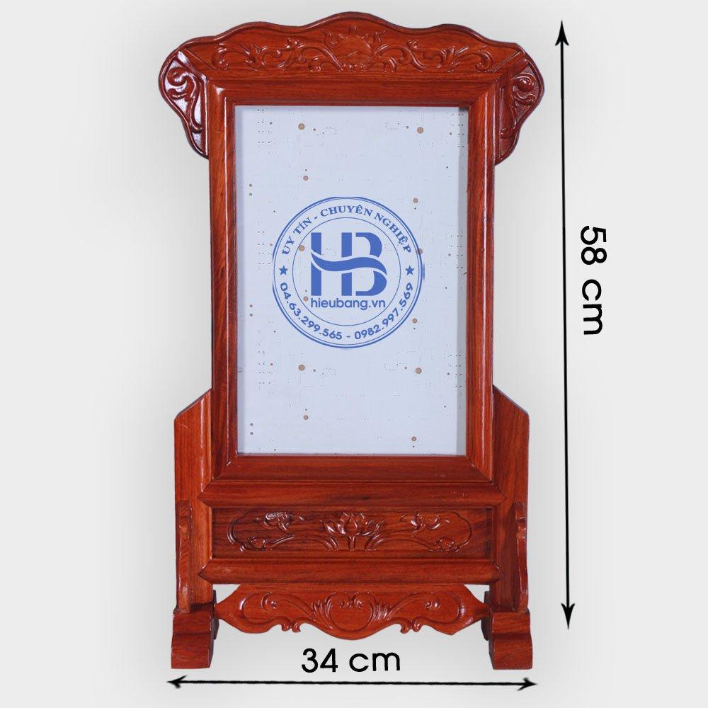 Khung ảnh thờ gỗ Hương đục nền 25x35cm đẹp giá rẻ ở Hà Nội | Khung ảnh thờ